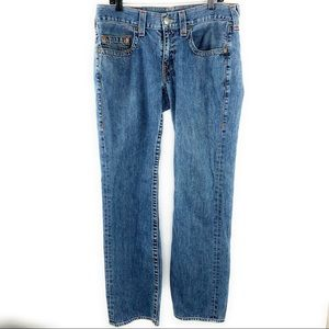 34x33 True Religion Bobby Straight Leg Jeans